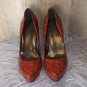 Jessica Simpson Red Skin  Pumps